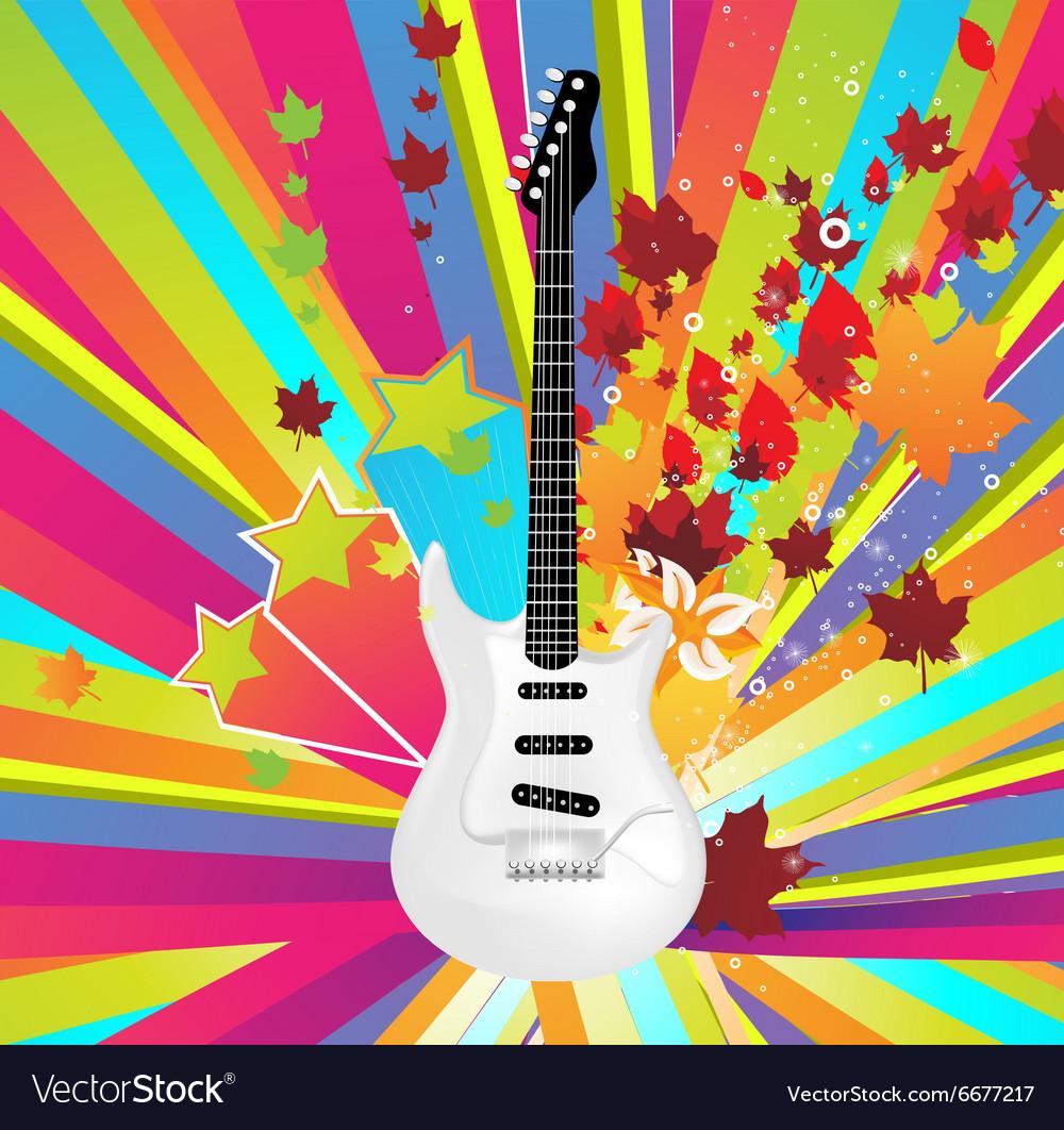 Autumn Guitar Icon
