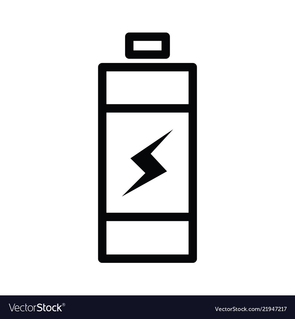 Battery icon single outline line style with