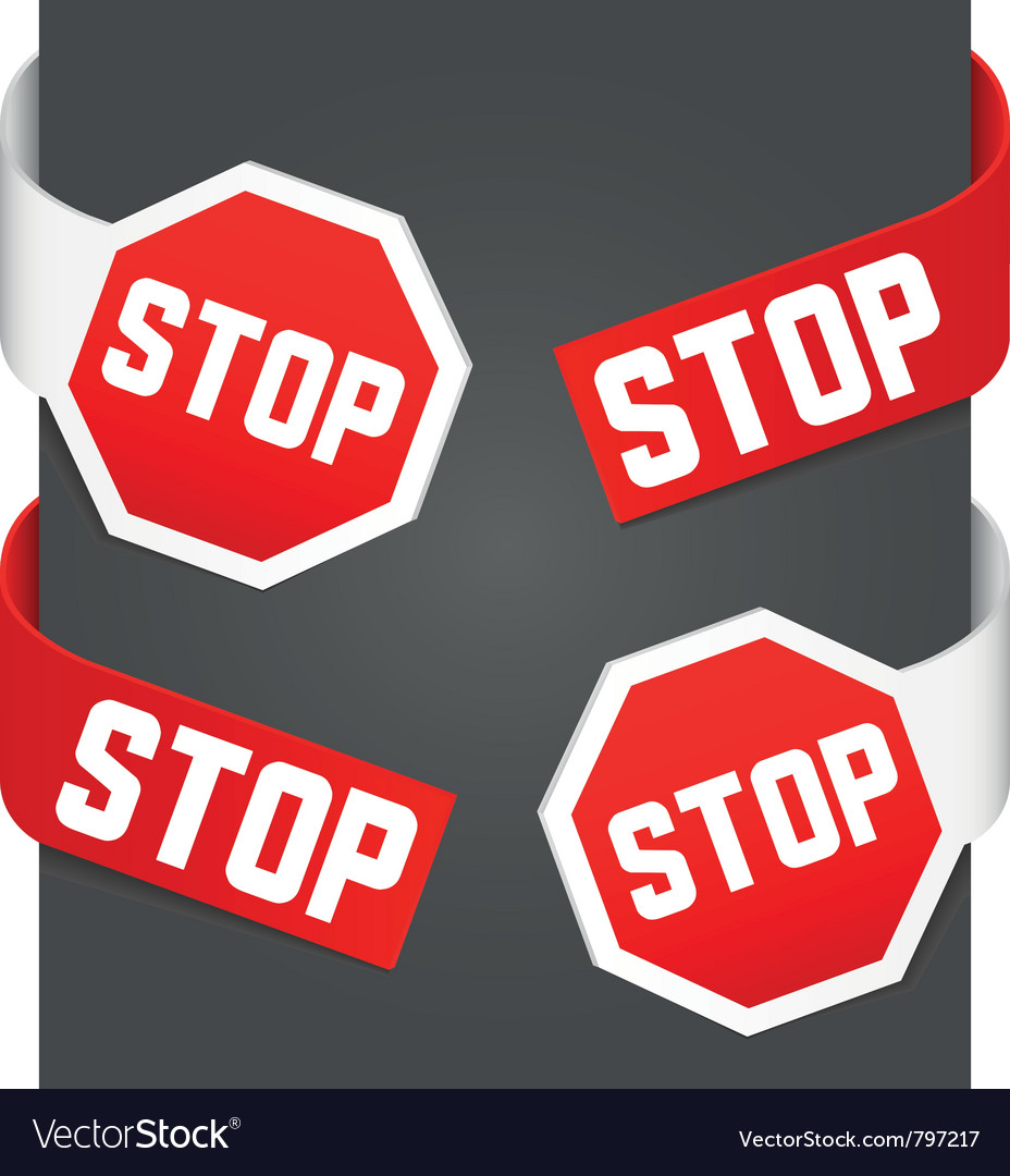 Left and right side signs - stop