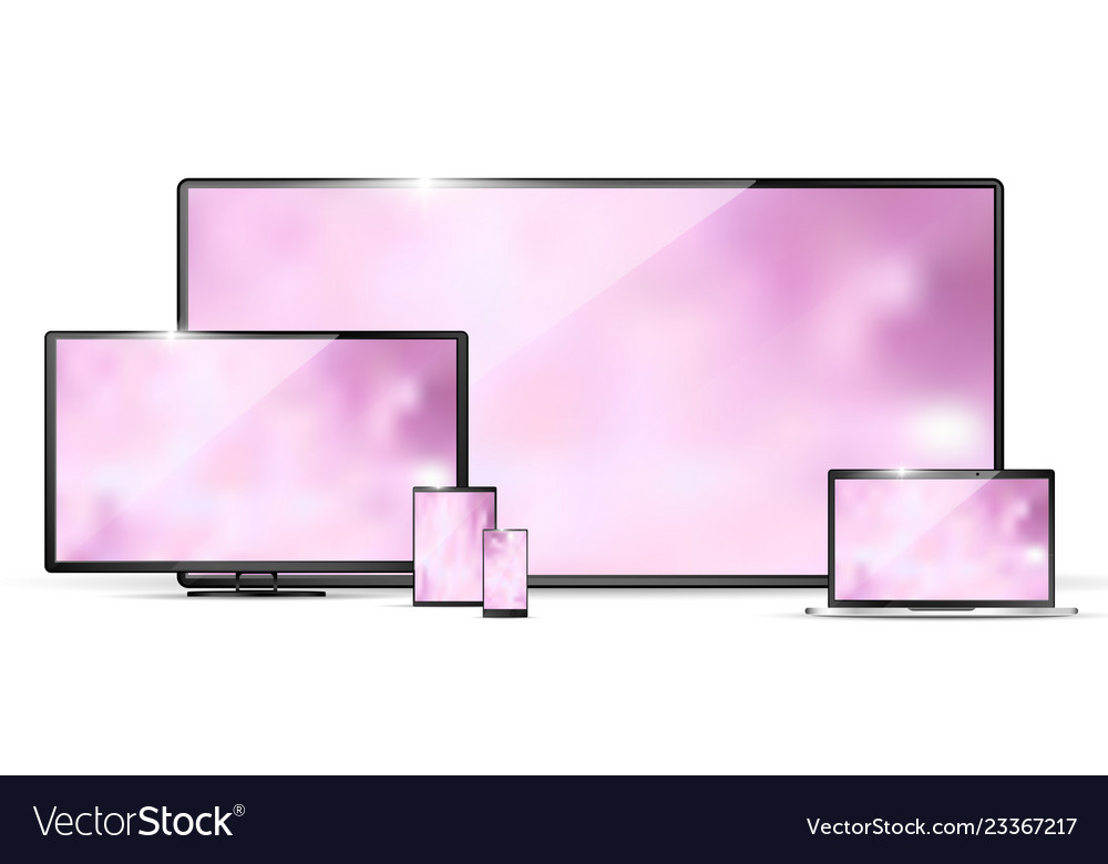 Modern realistic tv laptop monitor tablet pc and