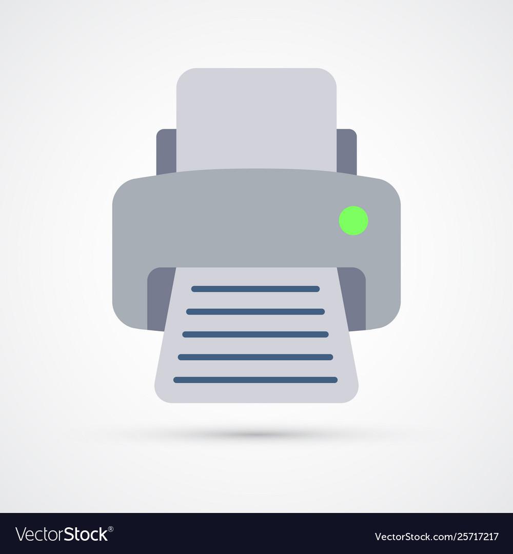 Printer trendy colorful icon fax