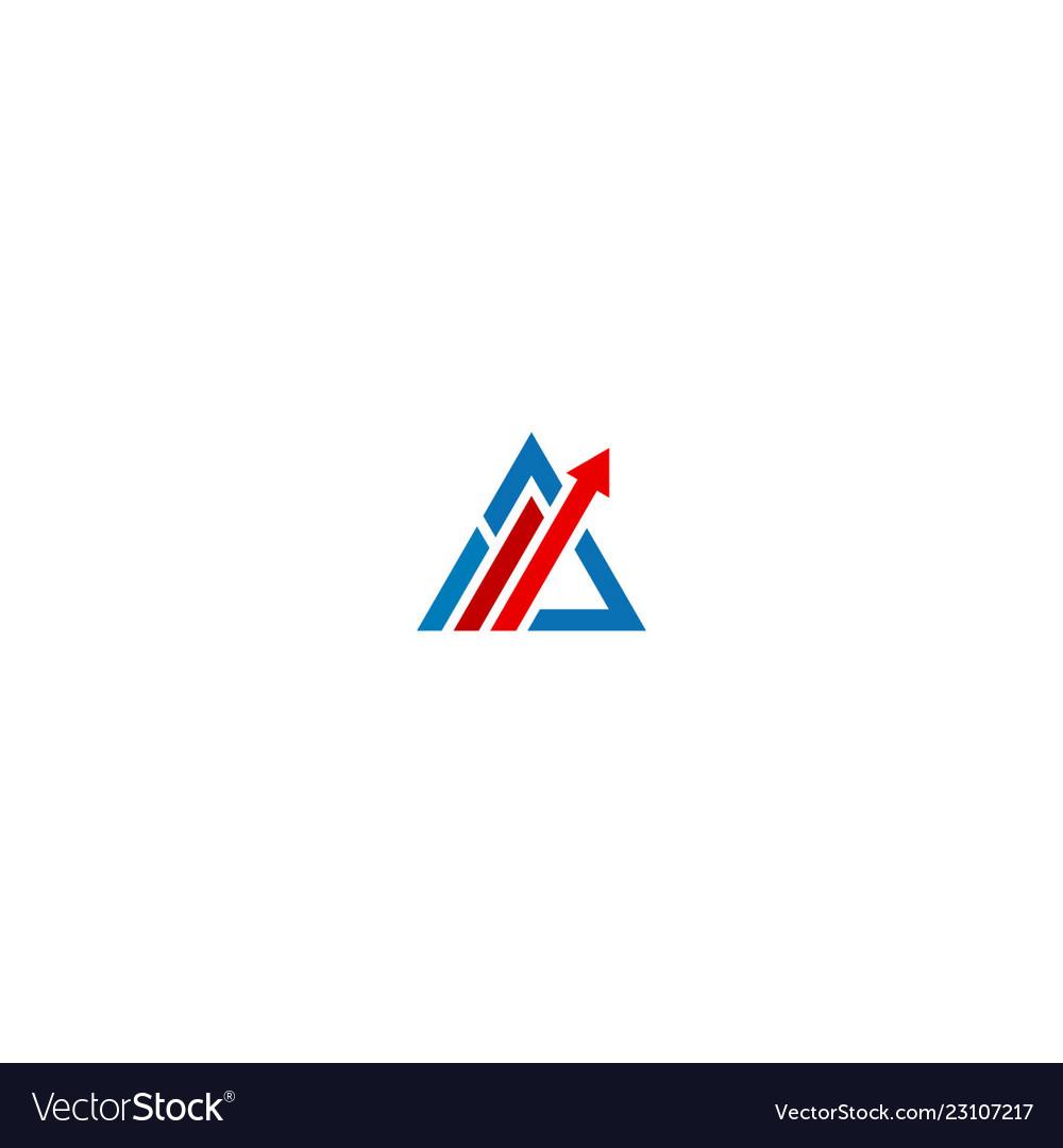 Triangle arrow progress business logo