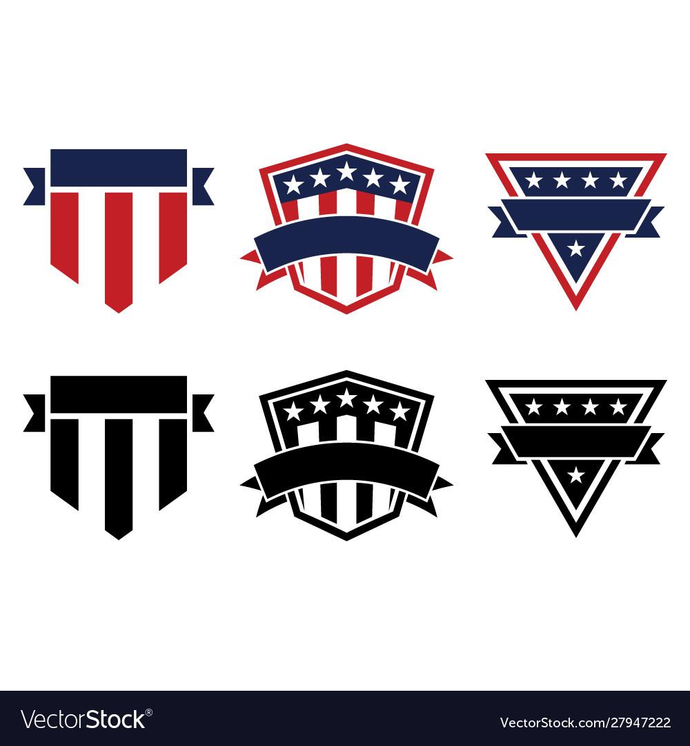 American pride patriotic stars and stripes logos