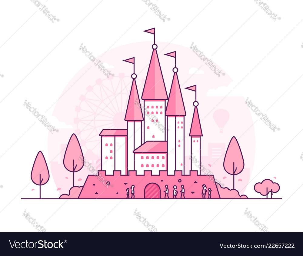 Castle - thin line design style