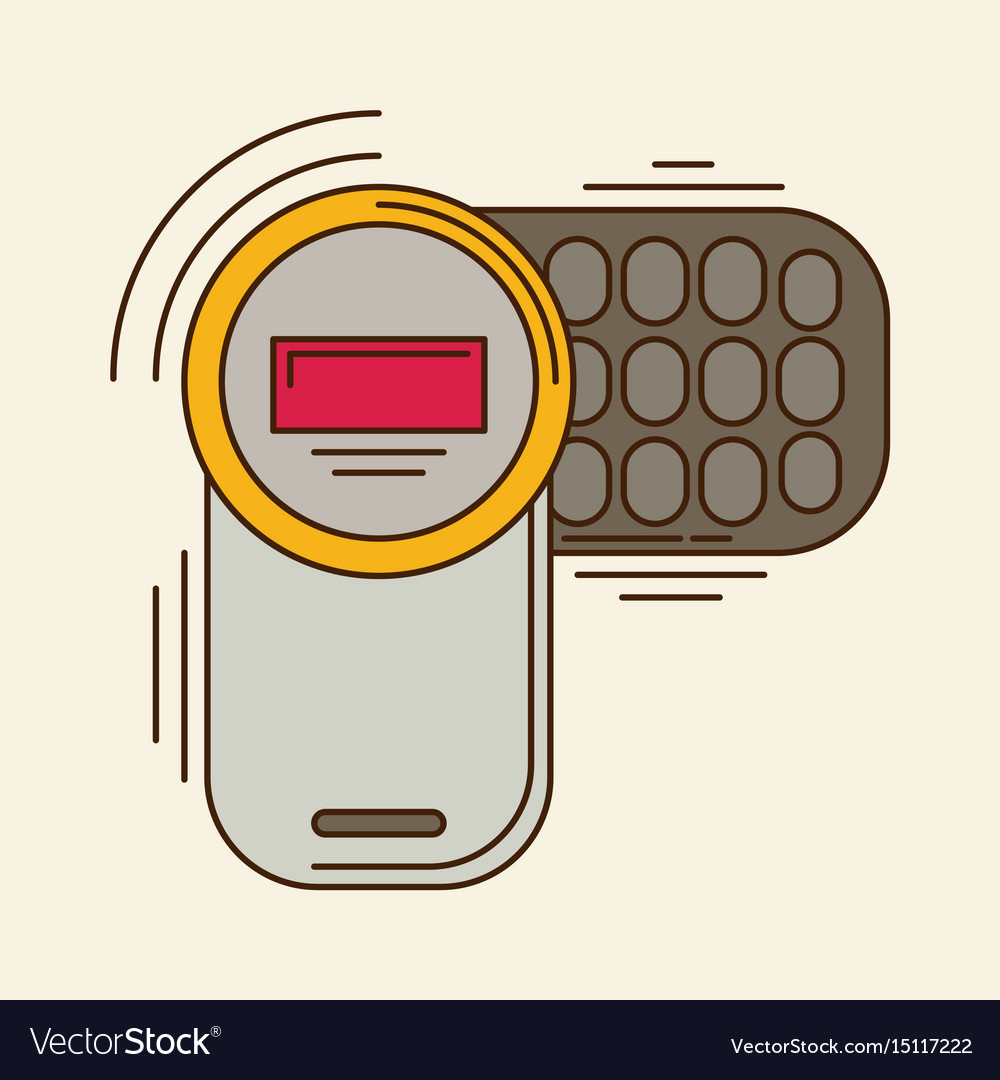 Cell phone flat icon