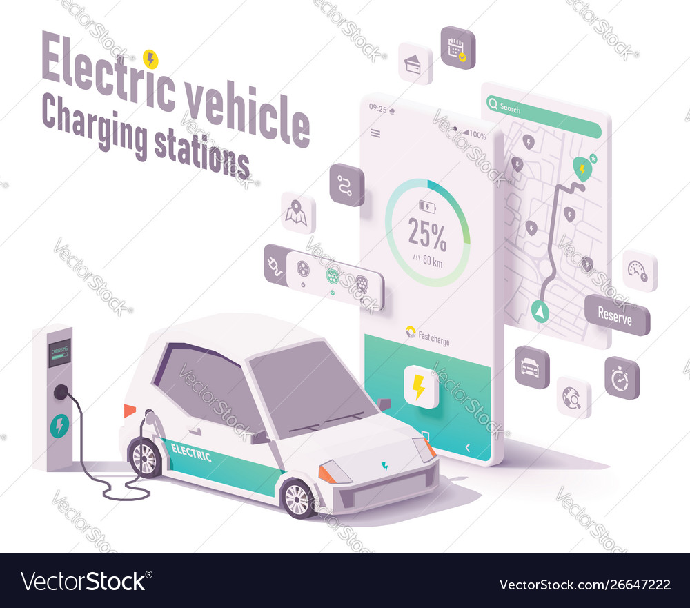 Electric vehicle charging stations app