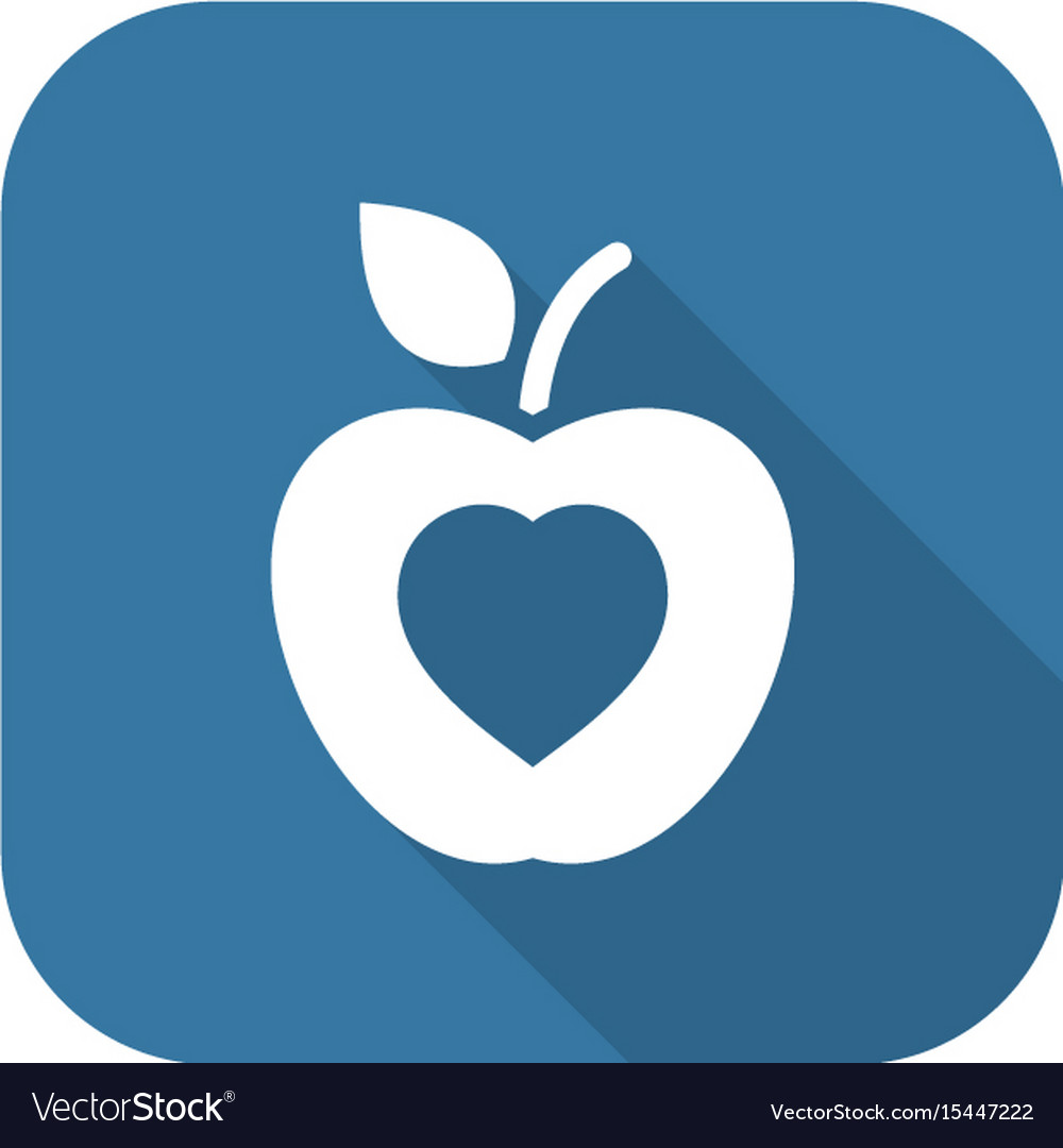 Healthy eating icon flat design