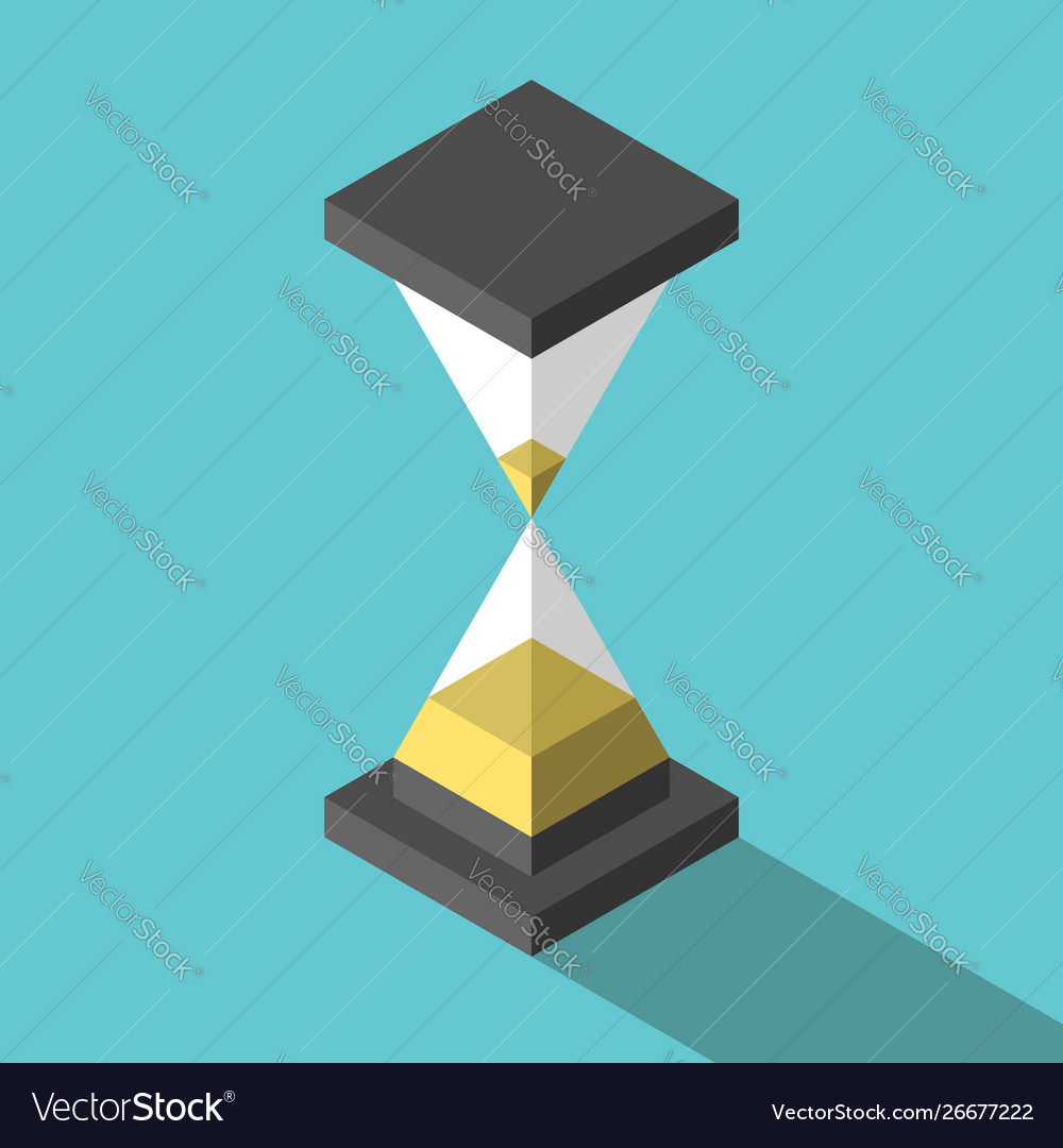 Isometric abstract simple hourglass