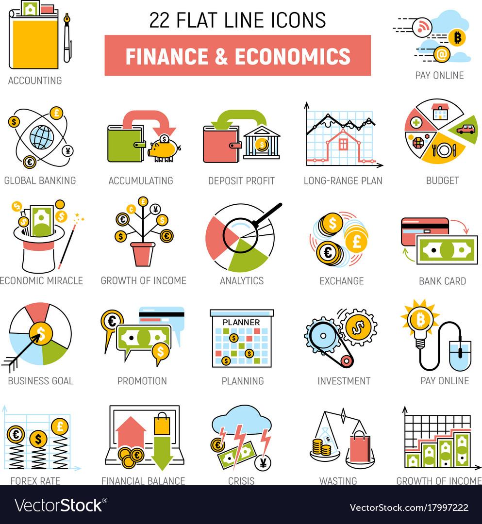 Money process finance and economic icons set sign