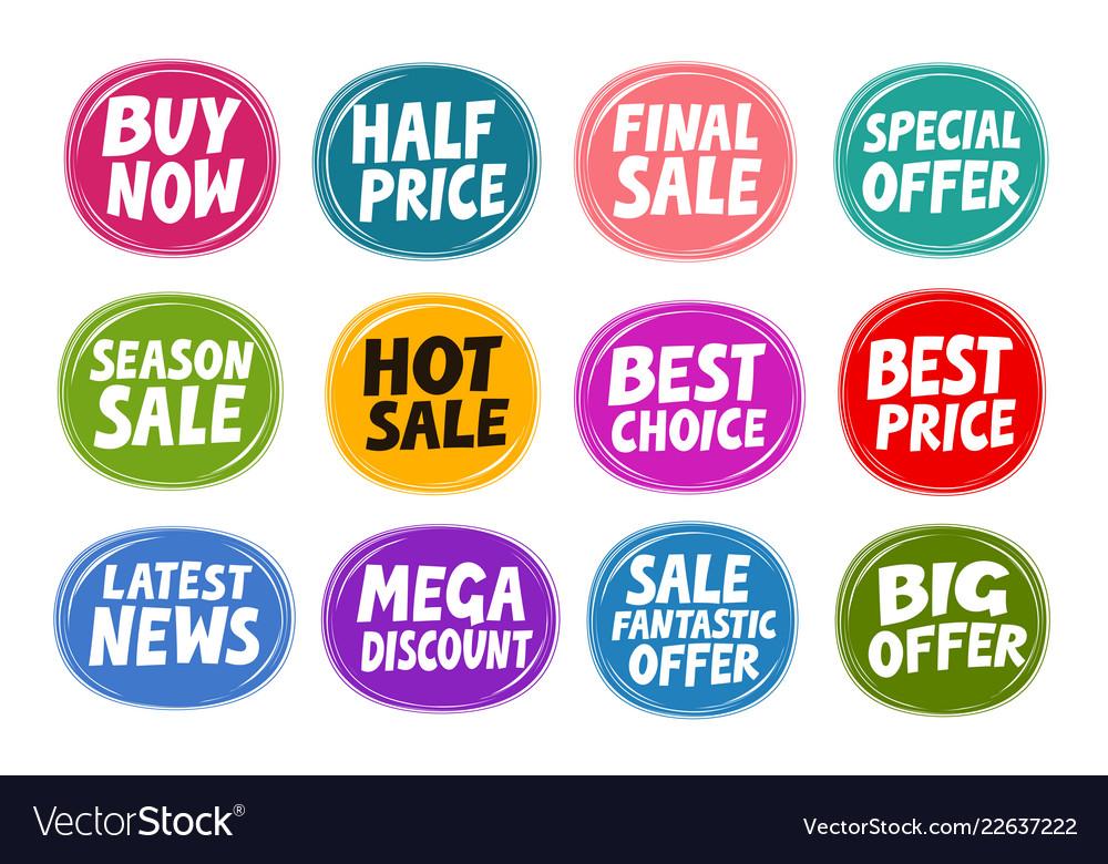 Sale label set business concept