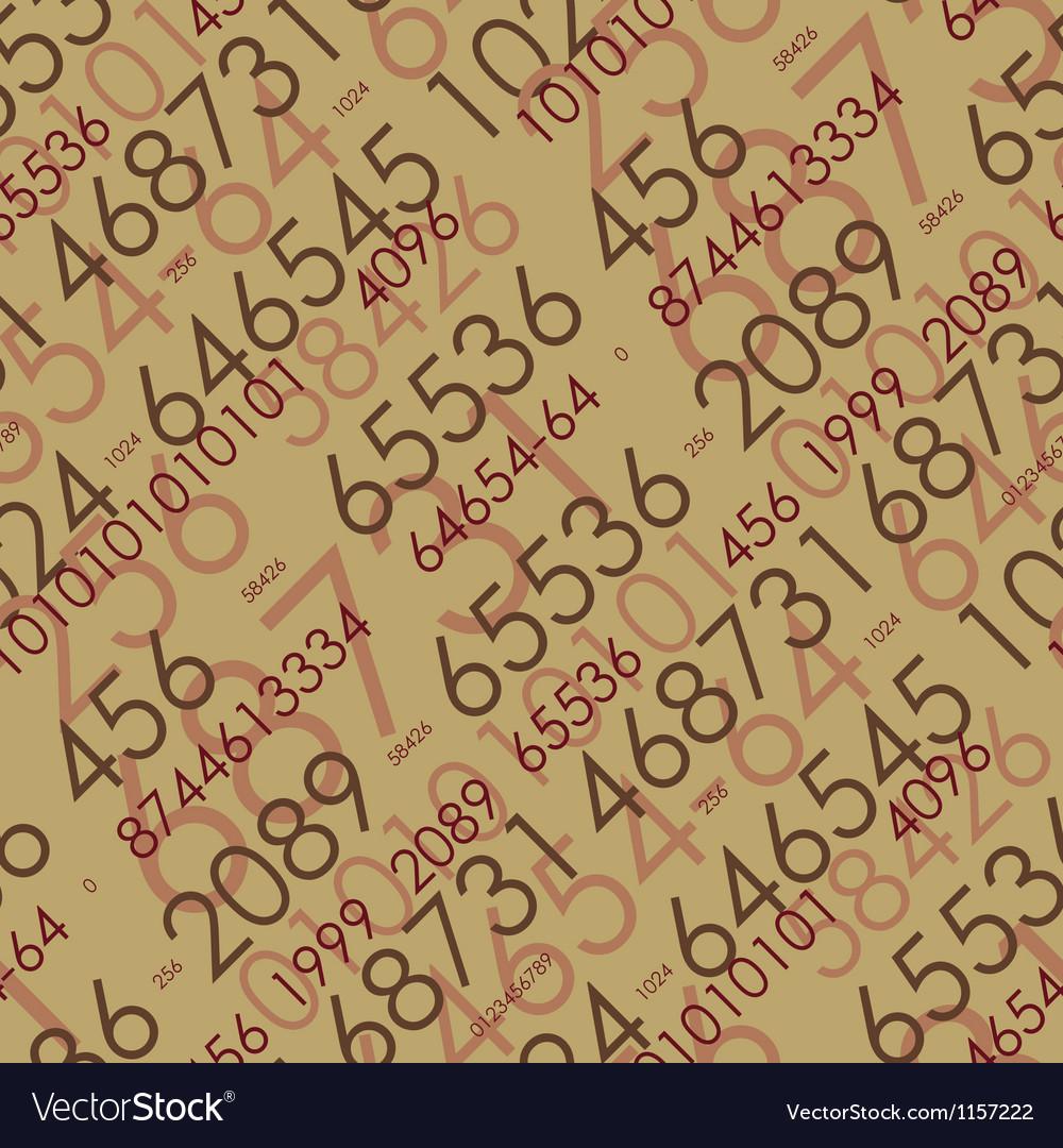 Seamless mathematical pattern vector image