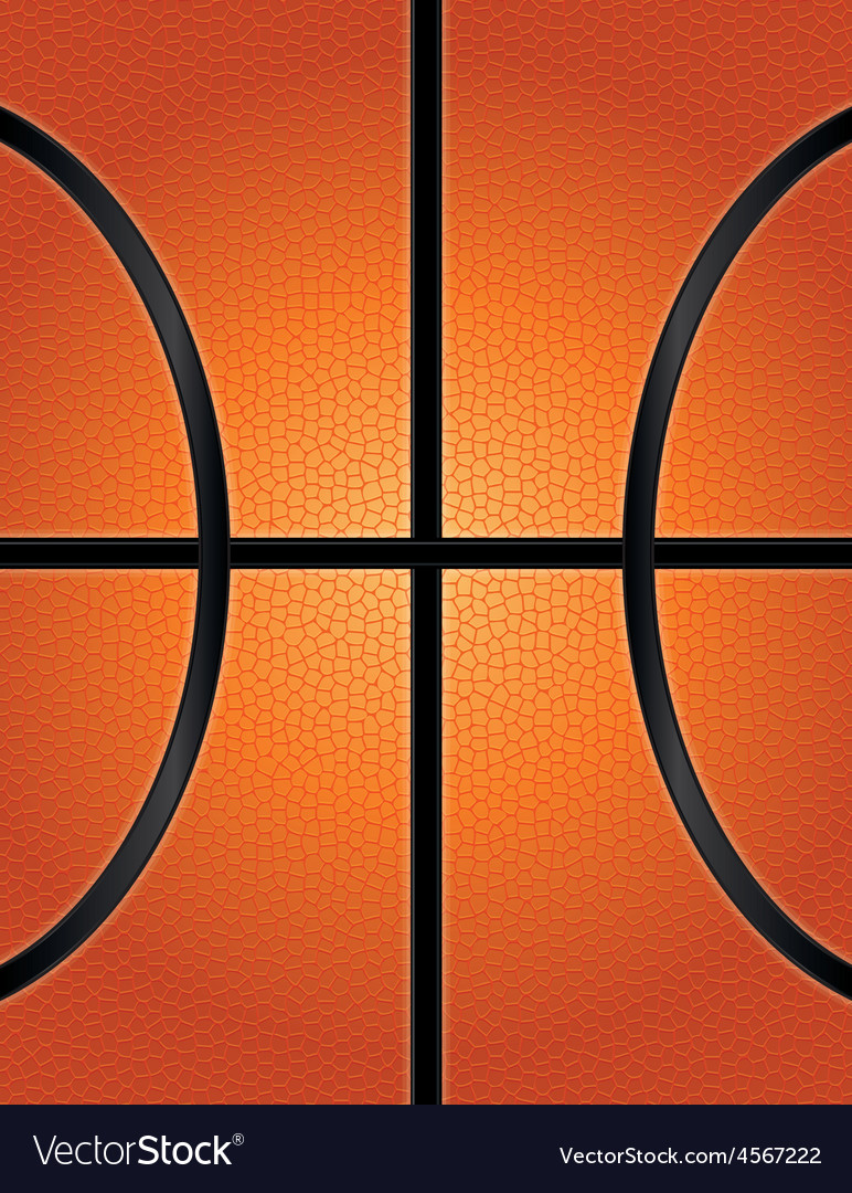 Textured Basketball Closeup Background vector image