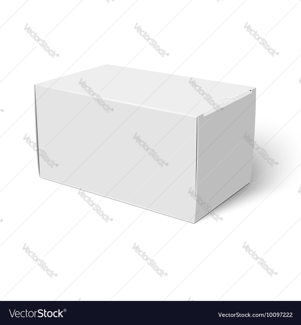 white closed cardbox box template royalty free vector image