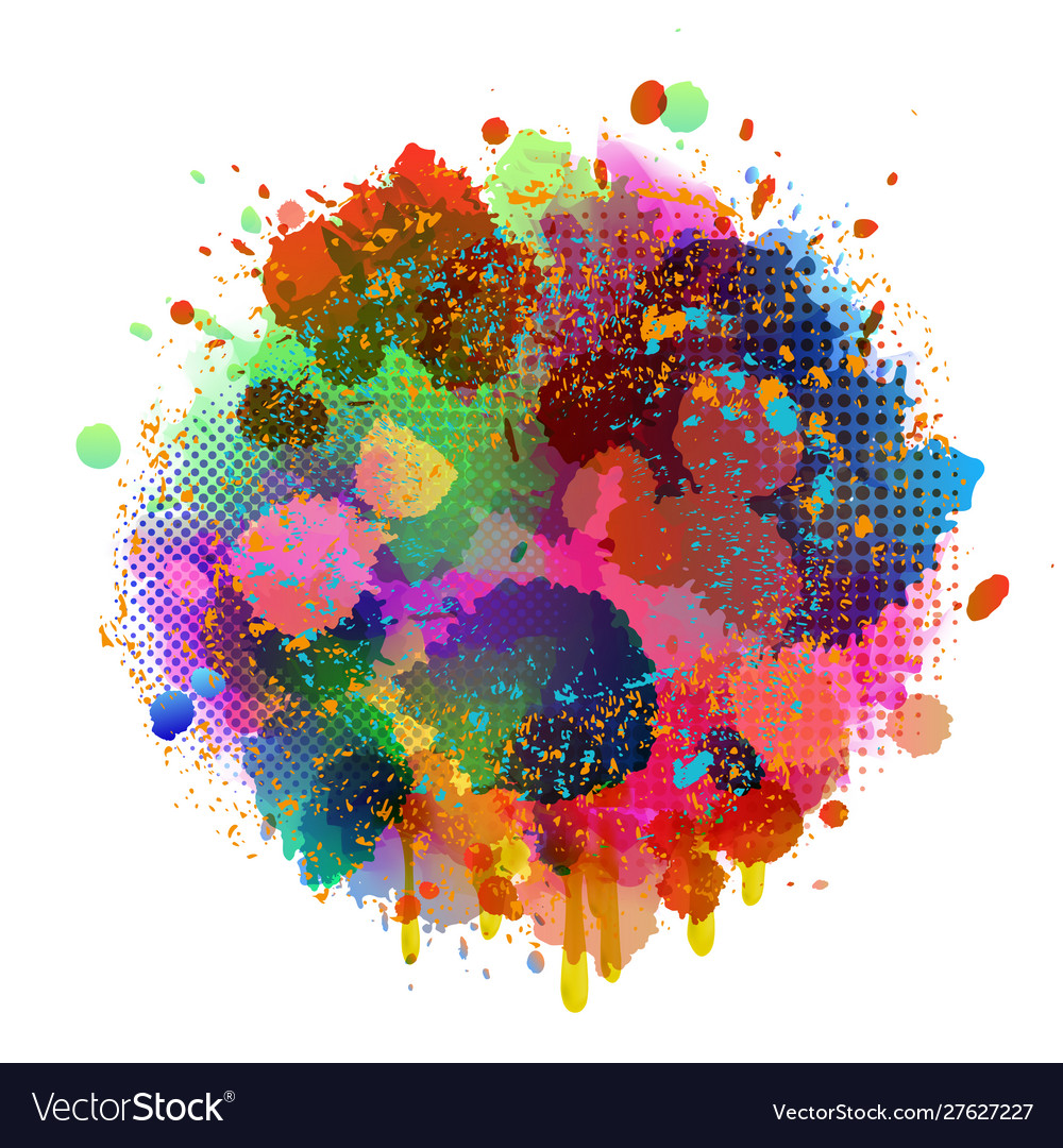 Abstract splatter color background