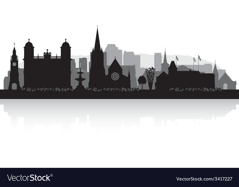 Christchurch New Zealand city skyline silhouette