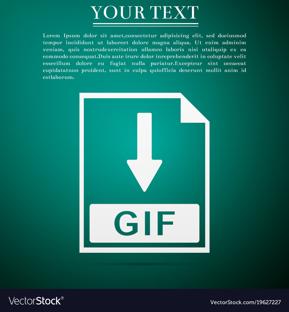 Gif file document icon download gif button icon