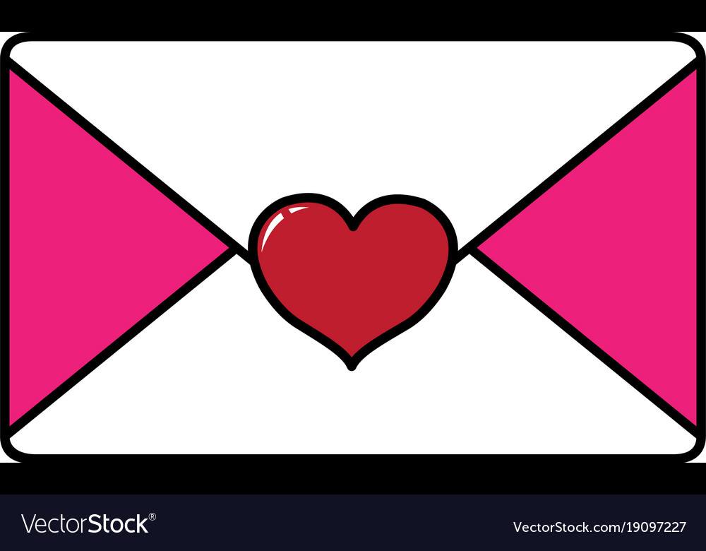 Isolated love card design vector image