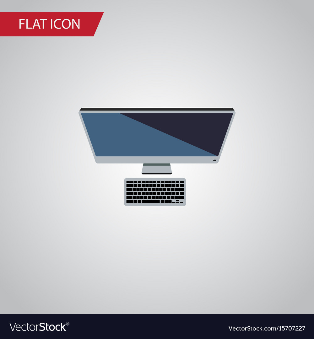 Isolated personal computer flat icon pc