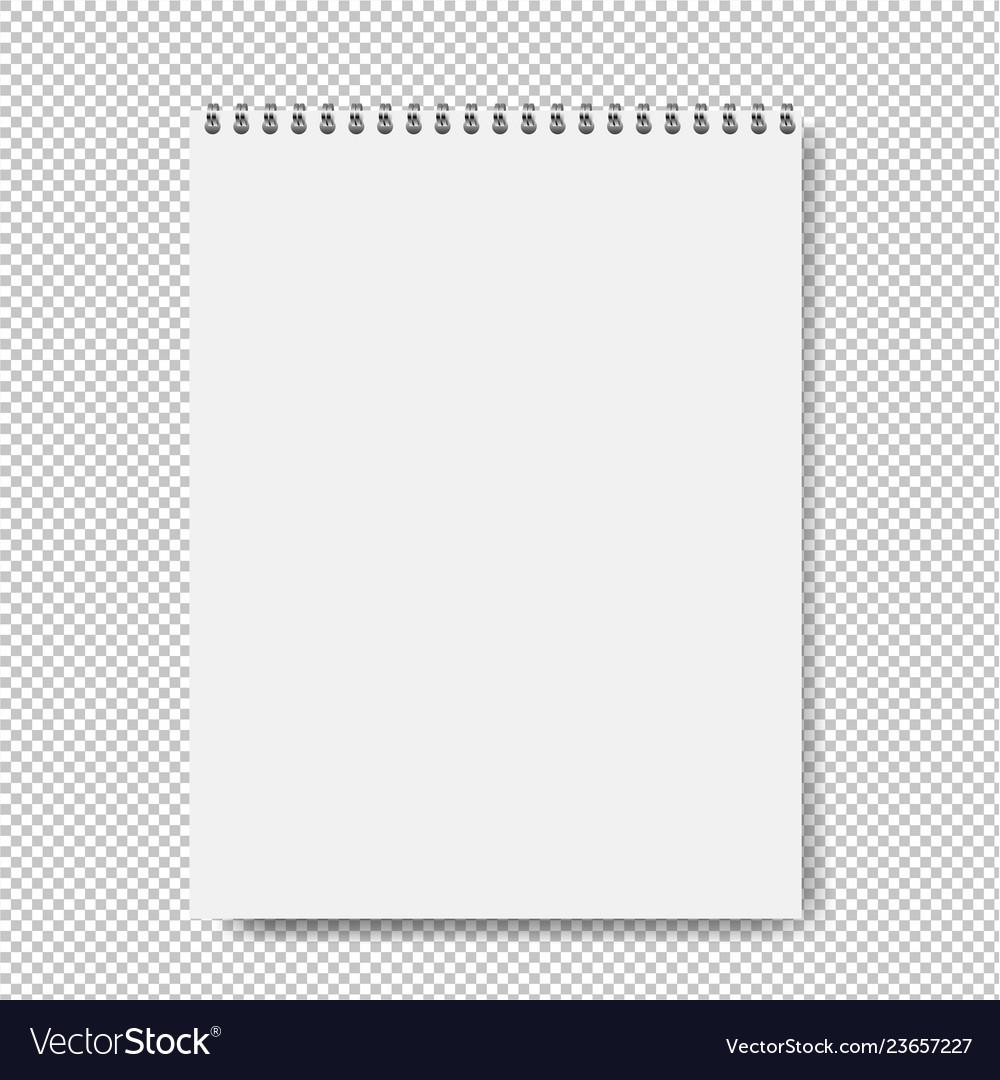 Notebook mockup isolated transparent background