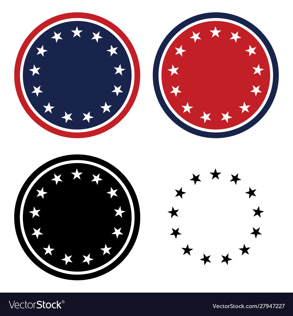 Patriotic 13 stars circle set