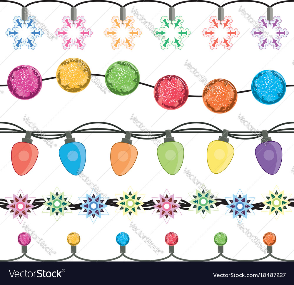 Seamless strings of christmas light garland lamps