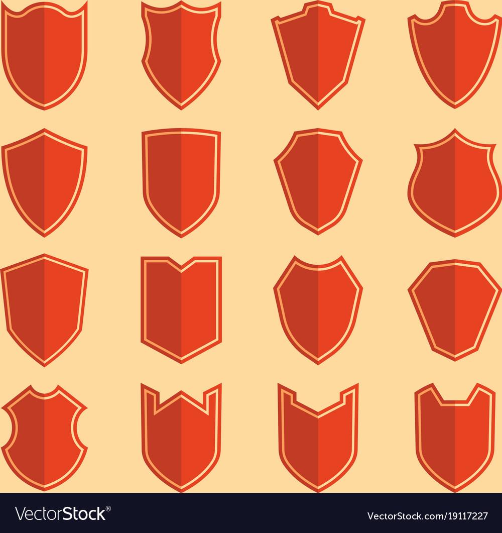 Shield color icon set