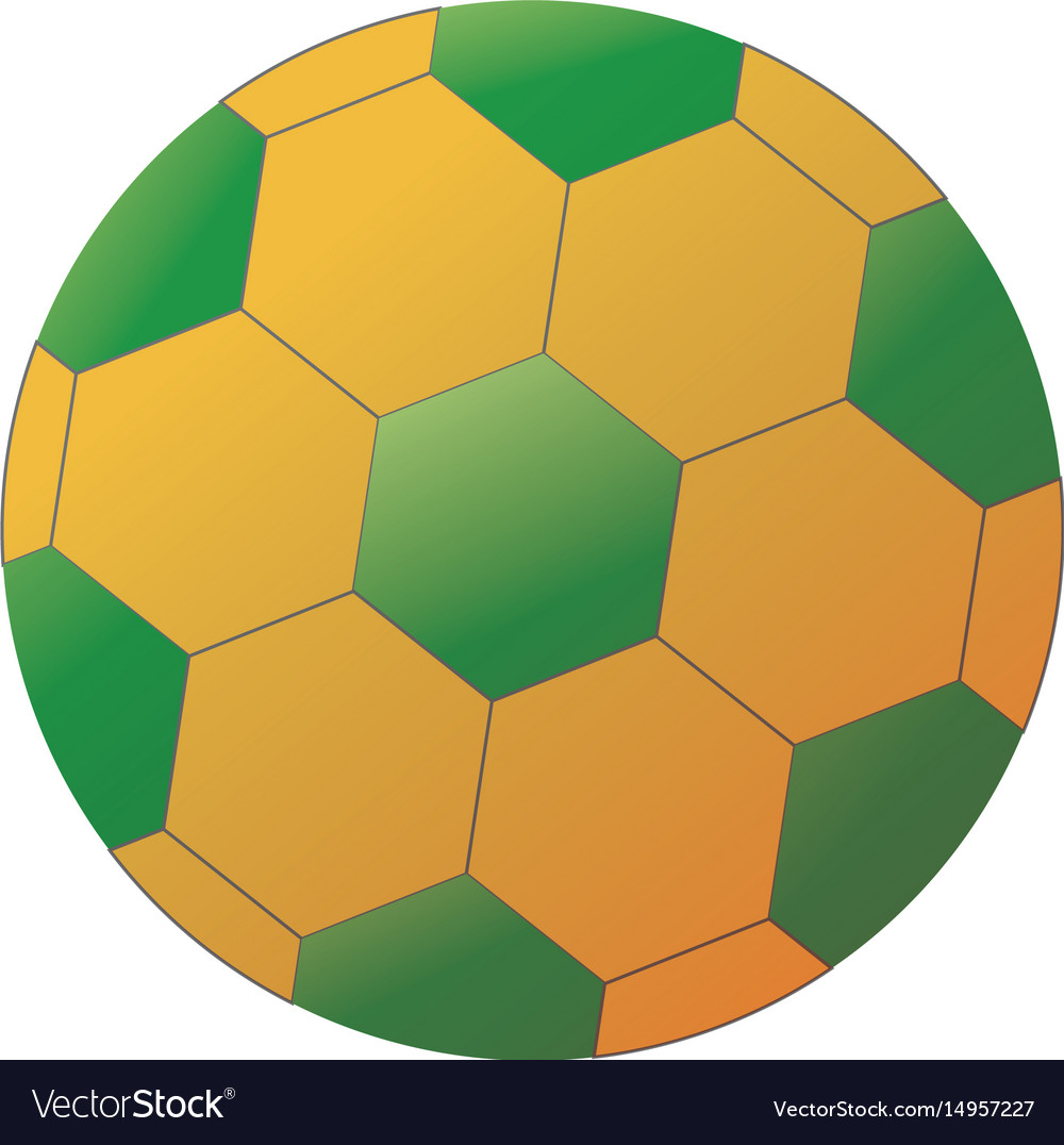 - Soccer Ball With Brazilian Colors Isolated On Vector Image