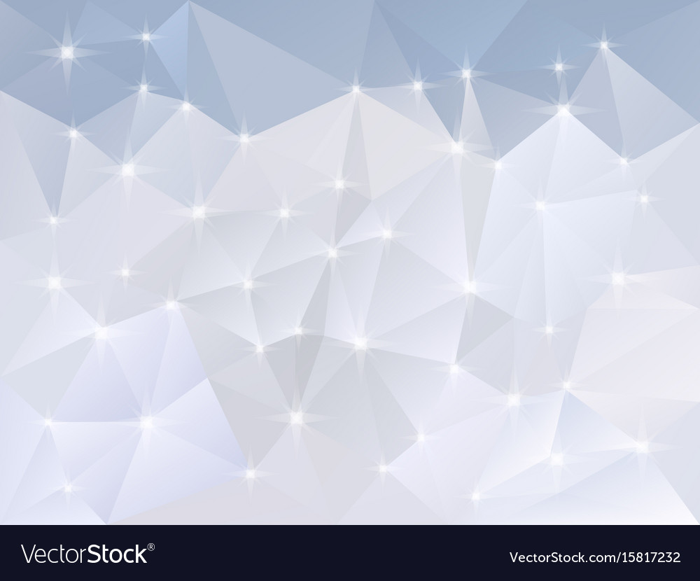Abstract irregular polygon background snow vector image