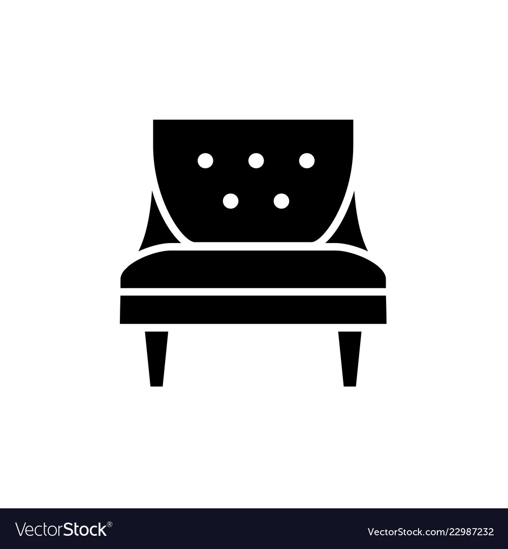 Black Amp White Of Comfortable Vector Image