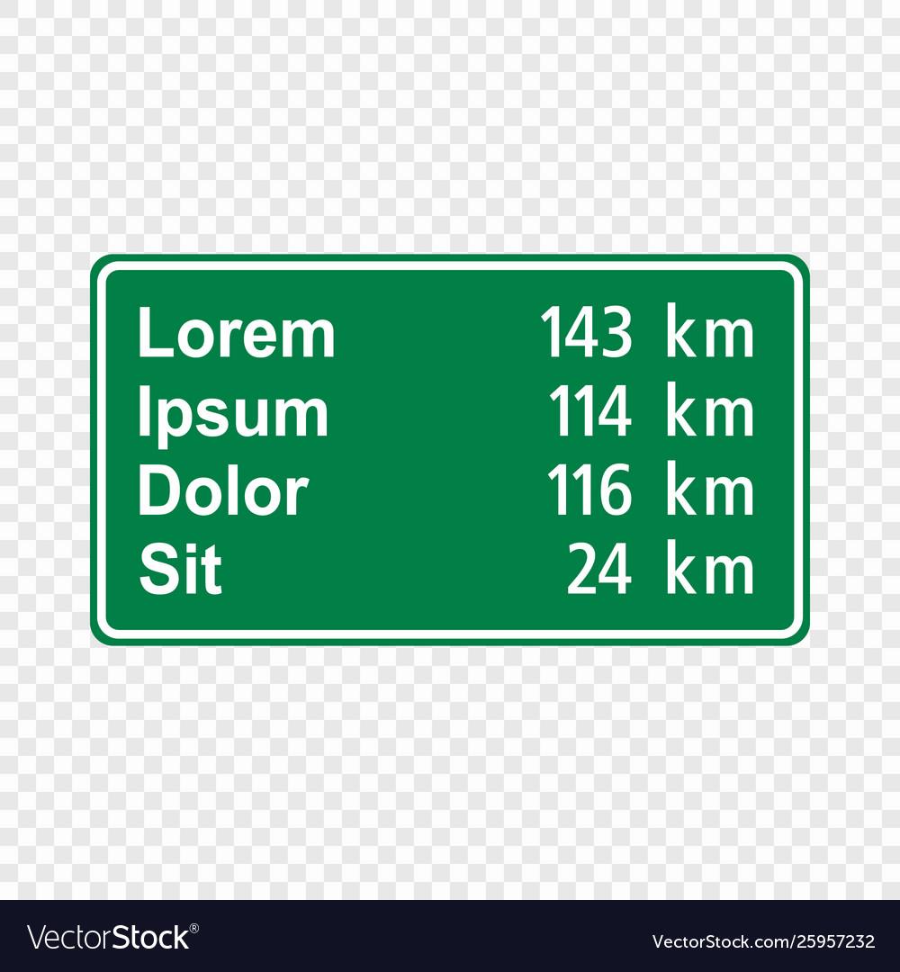 Blank green traffic road sign