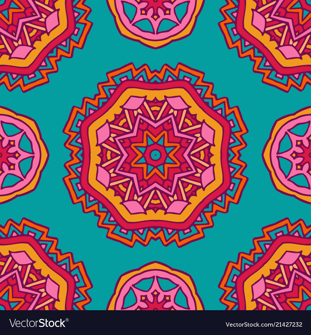 Colorful ethnic festive abstract floral