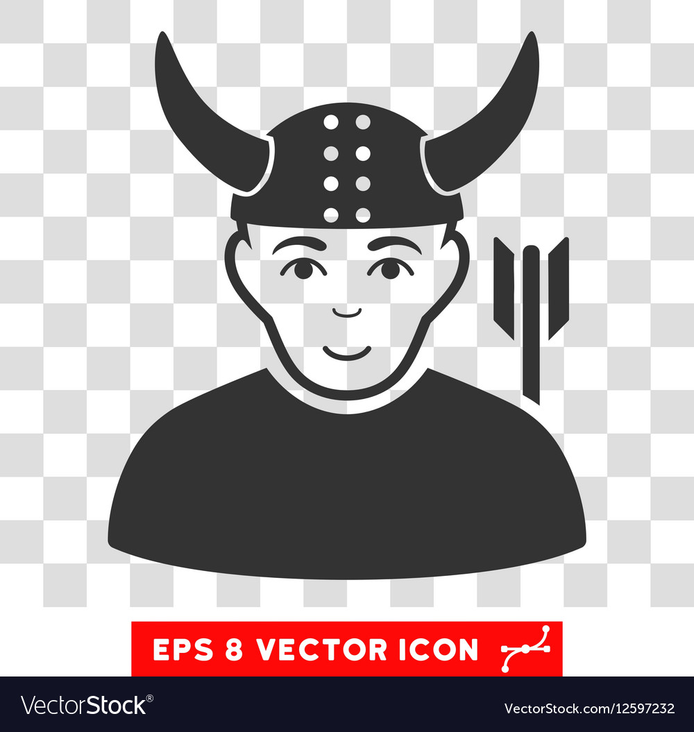 Horned Warrior EPS Icon vector image