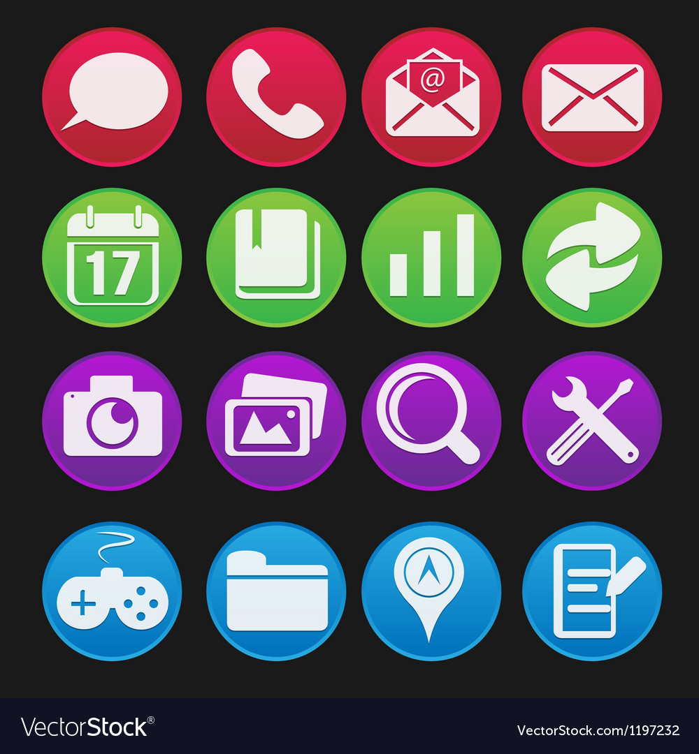 Mobile Phone Icon Gradient Style vector image