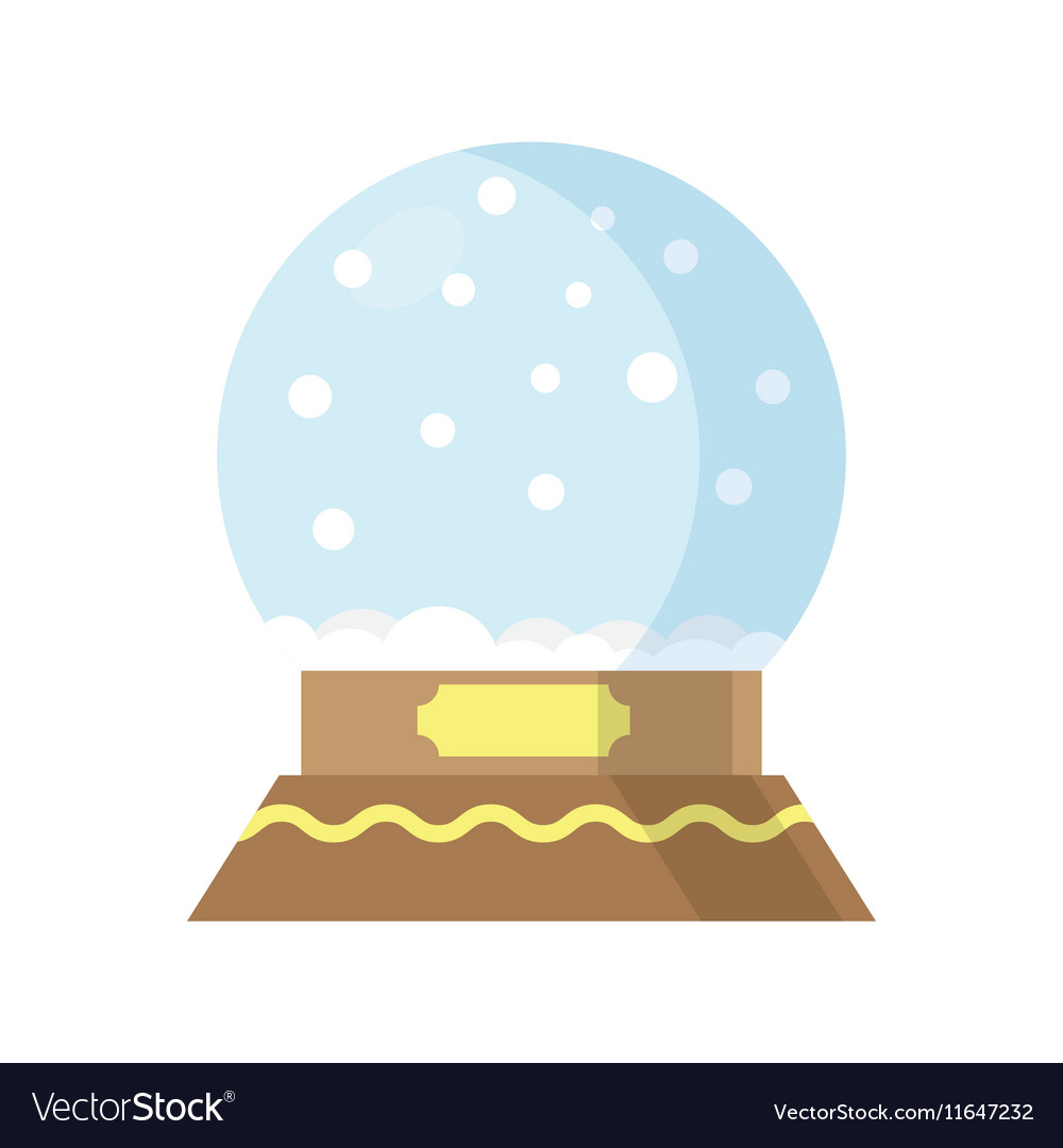 Snow Globe isolated on white background
