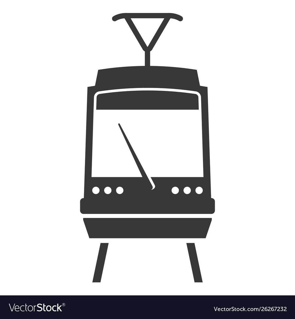 Train black icon electric subway platform symbol