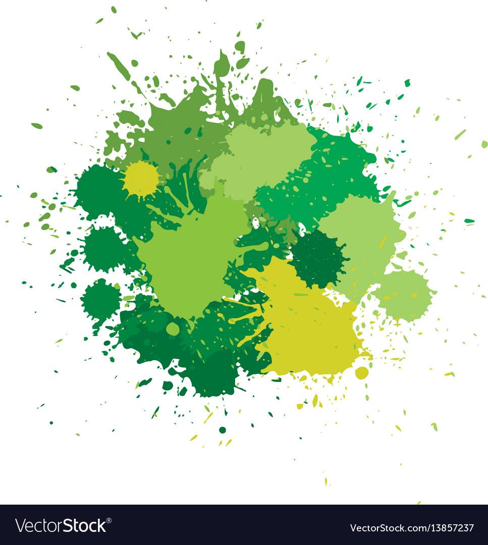 Blots in green tones