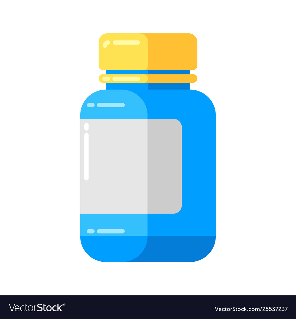 Can pills icon in flat style