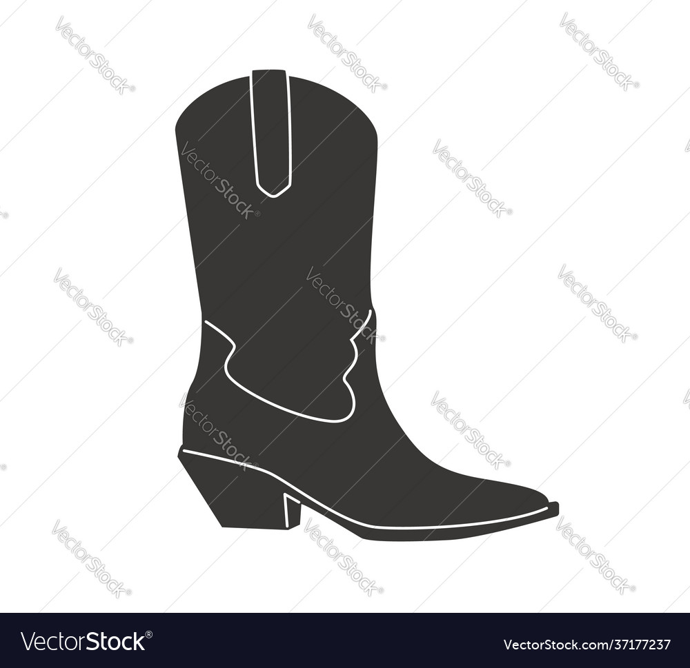 Cowboy boots icon isolated on white background