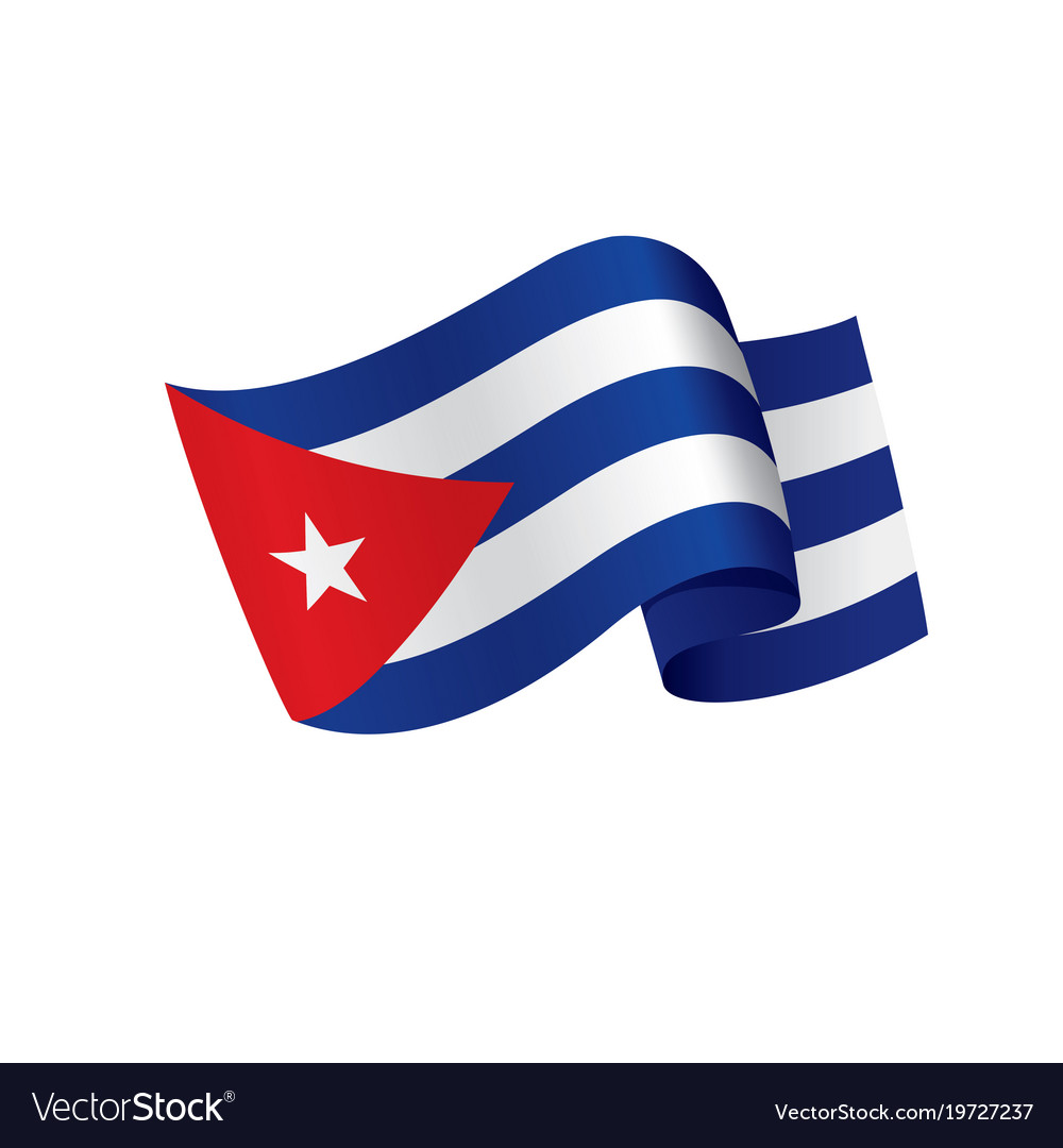 cuba flag royalty free vector image vectorstock rh vectorstock com cuban flag vector free cuban flag free vector