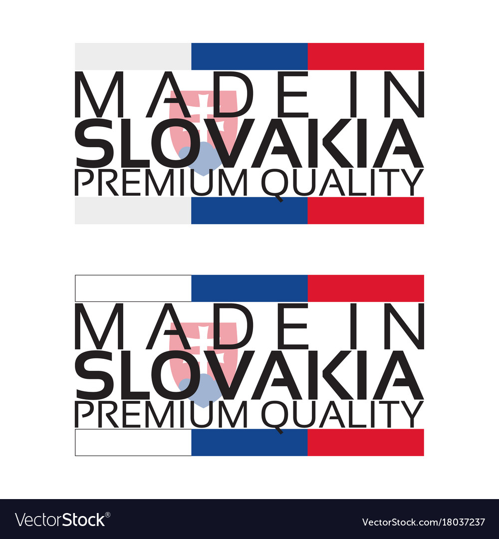 Made in slovakia icon premium quality sticker