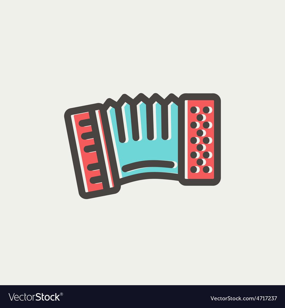 Organ thin line icon vector image