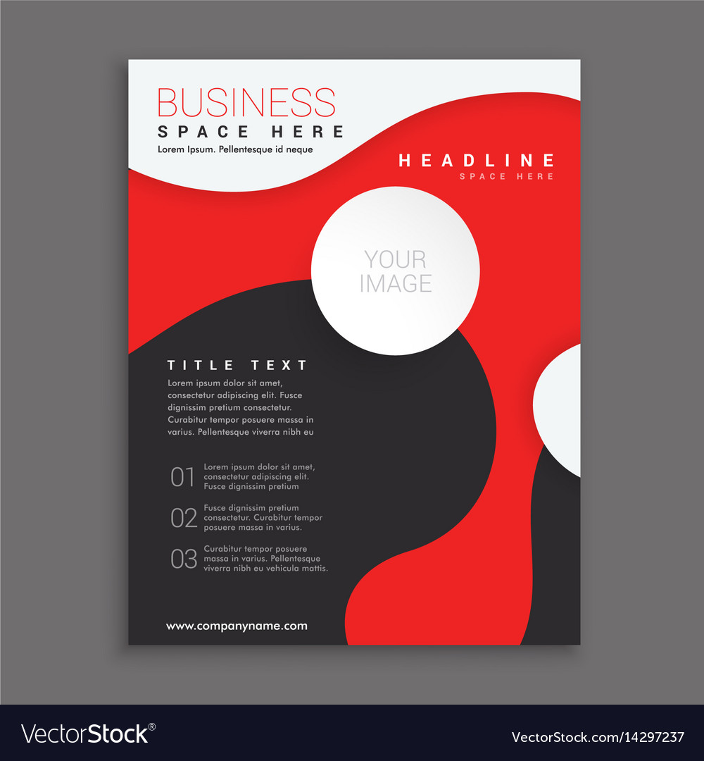 Red and black corporate business brochure