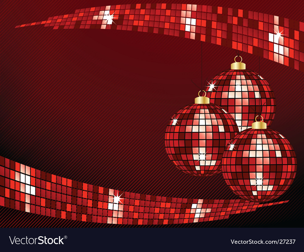 Sparkly bauble background vector image