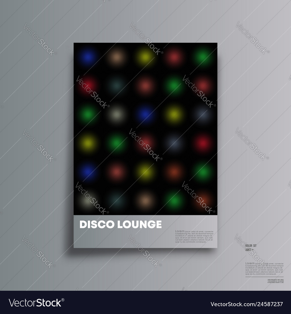 Vintage disco background for banner party