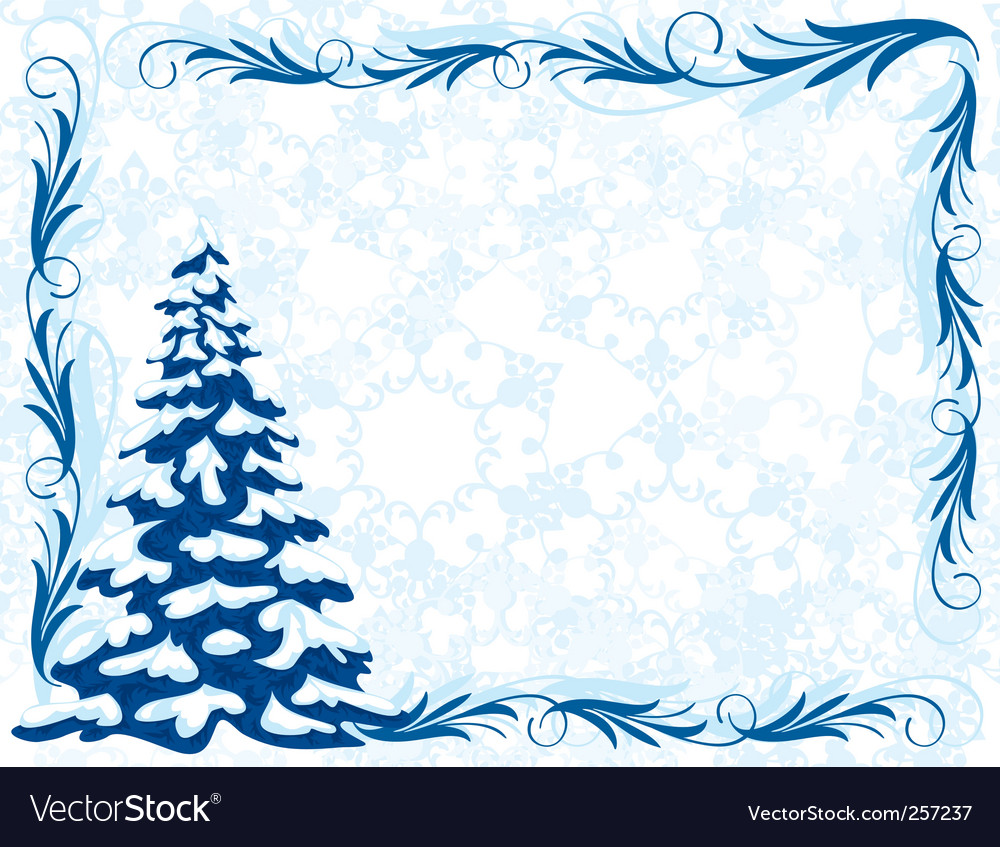 Winter frame Royalty Free Vector Image - VectorStock