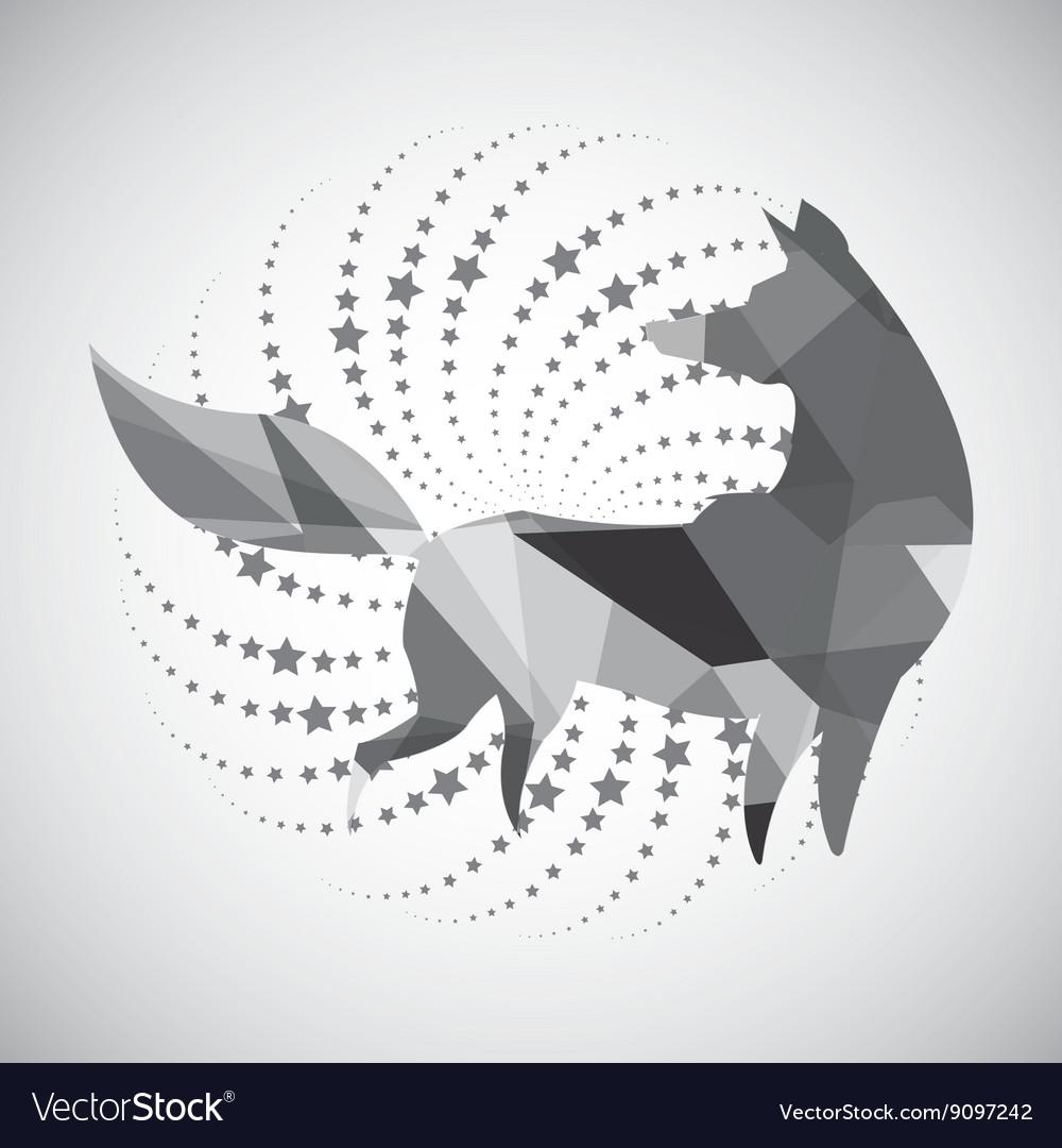 Animal design mosaic icon Isolated