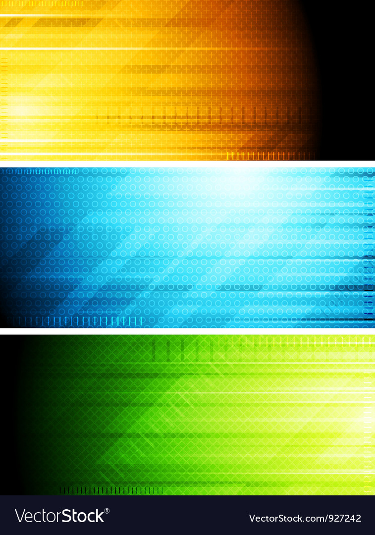 Bright technical banners vector image
