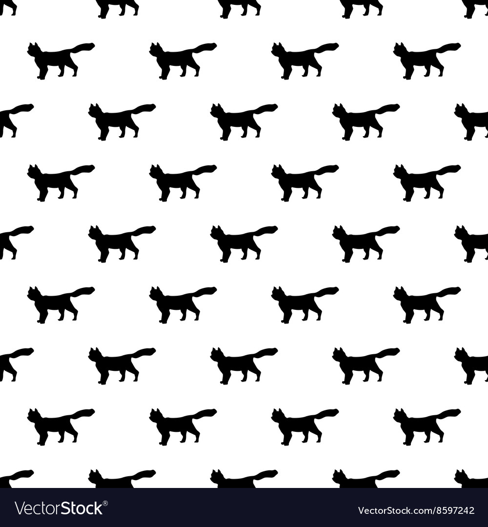 Cat pattern seamless vector image