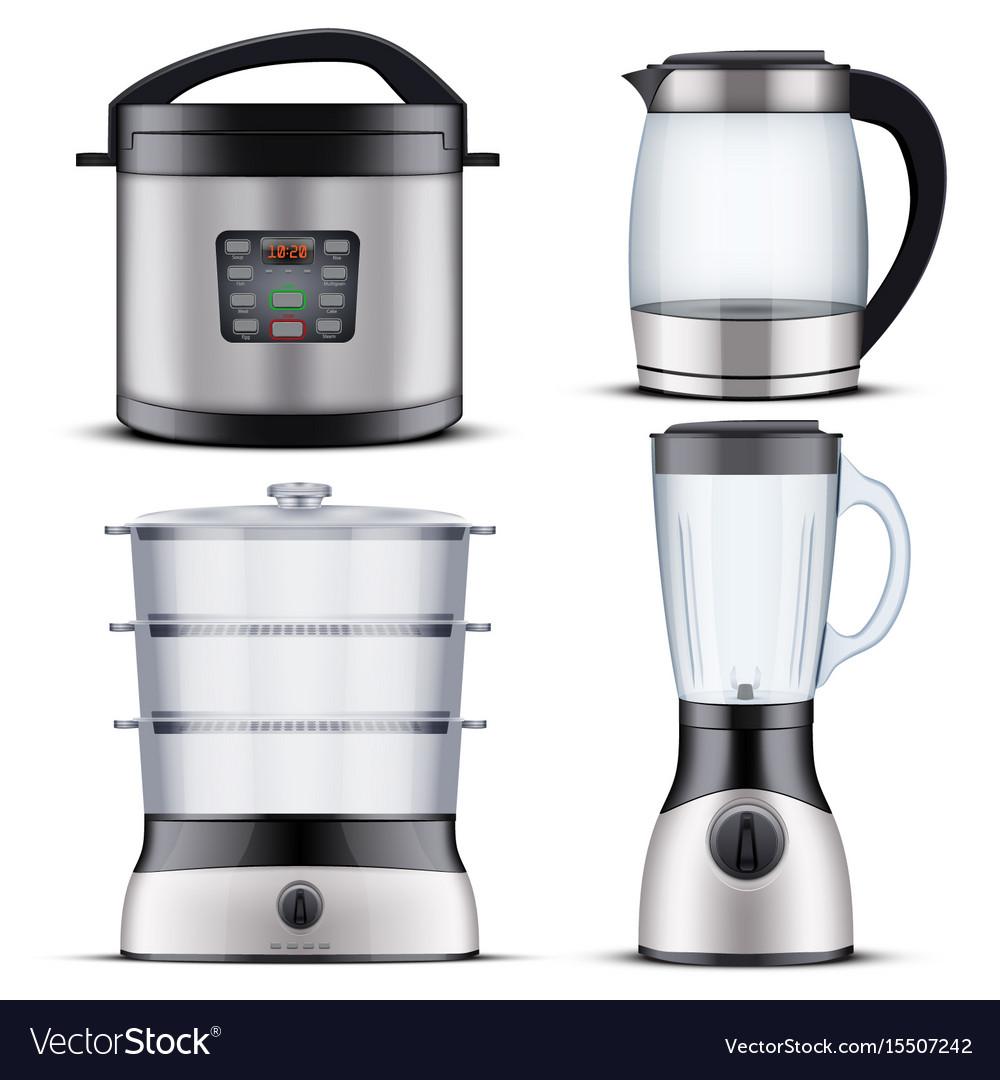 Domestic kitchen appliances vector image