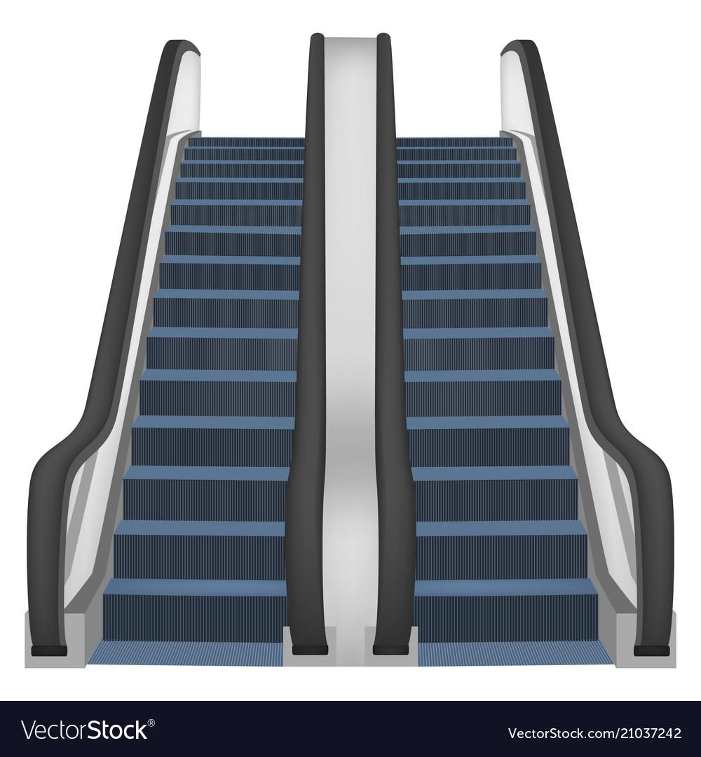 Double Escalator Mockup Realistic Style Royalty Free Vector